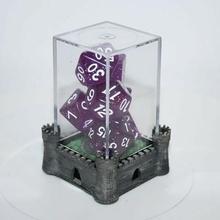 sencillo castillo temático bases contenedores monitor caso funda miniaturas bases miniaturas terreno castillo