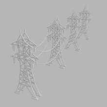 simple electric power tower 3d model architecture electicity electric electricity energy  power pylon tension tower transmission voltage towers skp stl obj c4d 3ds blende electrical architectural