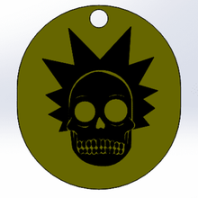 skeleton rick key chain