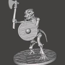 skeleton warrior beastman dog hound - axe game games wargames wargame undead skull skeleton shield necromancer miniatures miniature mini man hound figure dod dnd miniature dnd beastman beast axe 28mm