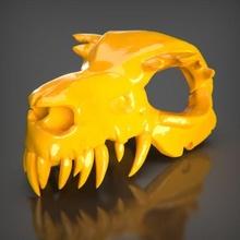skull 2 bust ender decor sculpture art toy decoration statue figures animal stl creality 3dprintable pla maker game sla resin skull