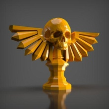 skull relic bust ender decor sculpture art toy decoration statue figures animal stl creality 3dprintable pla maker game sla resin relic skull
