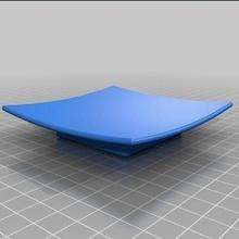 jabón plato cuadrado curva 95x95x20mm jabón plato cuadrado curva soporte apoyo plano estante soporte jabon sabao