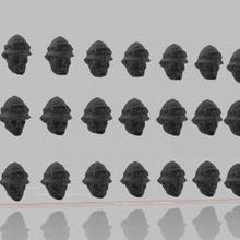 espace anglais colère portant moelle casques gardes garde am ig impérial garde 40k marteau guerre cadien cadia Dkok guerre marteau wargaming scifi 28mm rex dinosaure dinosaure Panzer