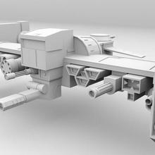 Platz Schiff sci fi futuristisch Platz Schiff ben10 Außerirdischer Schiff Flugzeug Raumfahrzeug Krieg Maschine Kämpfer Jet Kampf Flugzeug Jet Flugzeug Spielzeug niedrig poly 3d Modell