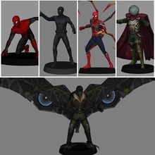 spiderman pack x5 - 3d print marvel mcu spiderman mysterio vulture ironspider spiderman stealth suit 3d model 3d print low poly mjolnir