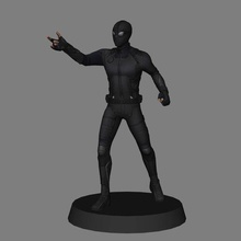 spiderman stealth suit - spiderman 3d print marvel mcu spiderman 3d model 3d print low poly peter parker