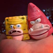 sponge gar sponge bob art sponge bob sponge gar sponge square pants 3d model grinder head nickelodeon cartoon