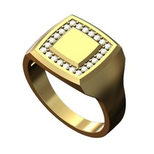 square diamond geometric signet ring 3d print model ring jewelry printable gold silver sterling signet men menring fashion jewellery luxury modern classic minimalist simple diamond diamond ring diamond signet geometric rings
