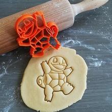 squirtle Pokemon biscotto taglierina giochi squirtle Pokemon animazione biscotto cottura biscotto taglierina Impasto forma cucina infornare biscotti speculoos