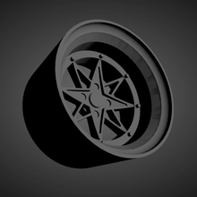 ssr star shark scalable printable rims cars low poly hot wheels 1/18 1/24 1/25 1/32 1/43