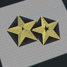 estrella conjunto Galleta cortador estrella conjunto Galleta cortador arcilla fondant Navidad hogar casa cortador mano