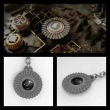 stark gear keychain - game thrones art got throne game stark game thrones key ring kay chain