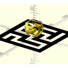 stereographic projection maze art maze stereographic-projection stereographic math-art customizer openscad math
