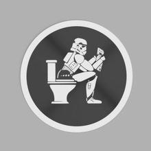 stormpooper guerra Galaxias tormenta soldado Stormtrooper logo Insignia plano baños wc