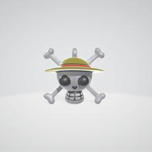 chapeau paille pirate bijoux joyeux porte clés pendentif 3dprint