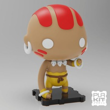 street fighter dhalsim game collectible collection miniature figurine action figure toys toymaker purakito plakit