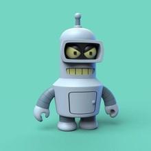 tozzo bender futurama bender bender rodriguez flessione cartone animato carina opaco groening robot simpson tozzo super deforme