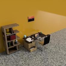 in sala di studio architettura documenti rosa tavolo di studio armadio la sedia camera tabella