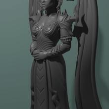 stylized lylith art stylized game diablo girl demon demona creature figure