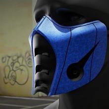 sub zero maschera moda mortale kombat zero scorpione mk maschera covid19 protettore protezione virus filtro