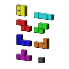 tetrise blocchi 3d i modelli di stampa gioco tetris il blocco tetrimino gioco lowpoly giochi di gioco giocattolo arcade di puzzle box piazza cubo video gioco di mattoni lego poli geometrica replica in miniatura i giocattoli