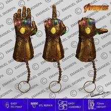 thanos Handschuh Schlüsselanhänger pack x3 verschiedene karaoke infinity-Krieg avengers
