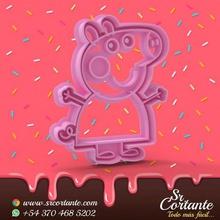 tema de peppa pig cortador de la galleta - cortador de galletas casa el frío de álamo sharp fondant stl cortador de galletas peppa pig