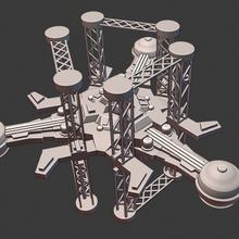 itme yıldız gemisi minyatür Uzay istasyon minyatür tam itme