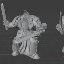 titanic falchion exterminators terminator grey knight titan armor paladin