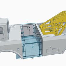 tonka demolitore conversione interasse centro regolazione pezzo tonka camion conversione rc metallo adattatore interasse regolabile 313mm 230 mm demolitore trainare camion