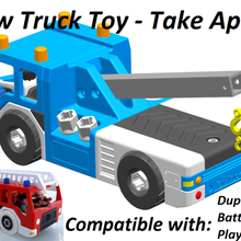 tow truck - take apart game tow truck tow playmobil lego duplo toddler nut screw truck fire toy take apart