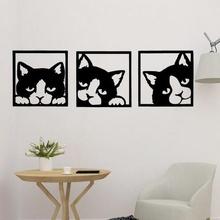 triple cat wall art art wall decor art animal animal wall wall art cat trible cat cat panel lovely cat 2d cat