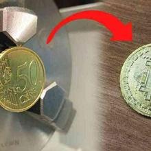 tournant 50 Bitcoin 3018 50 bit Bitcoin bras cnc cnc3018 cnc 3018 graveur cnc machine monnaie pièces monnaie monnaie titulaire soutien coper crypto crypto monnaie gravure