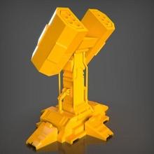 turret rocket bust ender decor sculpture art toy decoration statue figures animal stl creality 3dprintable pla maker game sla resin turret rocket games tray