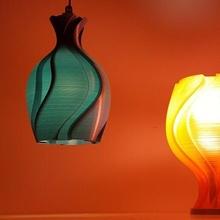 unfolding flower lamp2 lamp bulb lampshade vase mode spiral mode table lamp ceiling flower bud lighting light illuminate decor interior design ambient