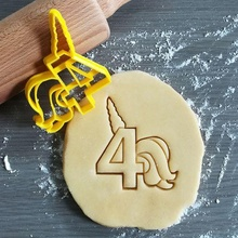 unicorn birthday number 4 cookie cutter unicorn birthday number 4 girl girly cookie baking cookie cutter dough shape kitchen bake cookies speculoos
