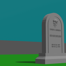unus annus tribute art desk toy head stone grave dead death unus annus count  timer
