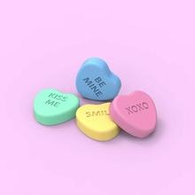 Saint Valentin bonbons cœur bonbons Saint Valentin journée Valentin mignonne baiser bisous bisous sourire