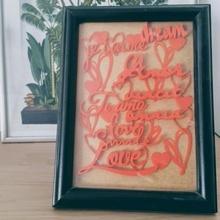 valentine 3d collage valentine love frame writing home decor lover gift