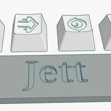 valorant jett abilities custom keycaps debossed design valorant jett bladestorm valorant keycap jett keycap