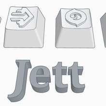 valorant jett abilities custom keycaps embossed design valorant jett bladestorm valorant keycap jett keycap