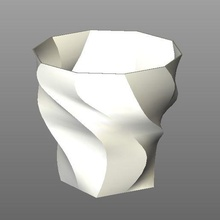 vase vase spiral art fashion home flower house design