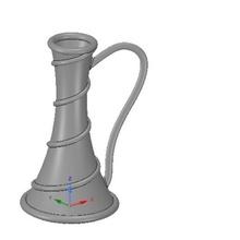 vase cup vessel v19 3d-print cnc art cnc art decorative garden decor design sculpture wood carving woodcarving carving milling engraving decoration vessel gin jug wine vessel capacity flower vase vase urn dust vessel