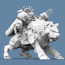 vikingo lobo jinete capitán herramienta 40k astartes capitán marina jinete espacio vikingos martillo guerra lobo 3d impresión