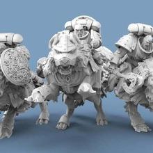 vikingo lobo jinetes herramienta 40k astartes marina jinete espacio vikingo vikingos martillo guerra lobo Lobos 3d impresión