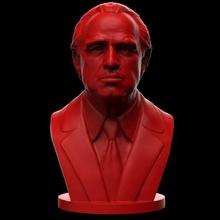 vito corleone - marlon brando - godfather 3d print model art godfather mafia coppola pacino  niro don patriarch crime italian sicilia american gangster boss alpha art sculptures bust