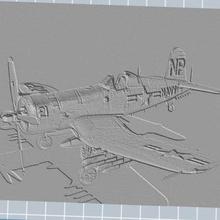 vought f4u-5n corsair varios marco efecto 3d