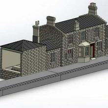 wip Hogsmeade Goathland istasyon oo ölçü 1 76 Harry çömlekçi tren istasyon Goathland Harry çömlekçi Hogsmeade Hogwarts ekspres model demiryolu modelrailway oo ölçü oo ölçü
