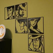 l'arte della parete, monkey punch, lupin iii rupan sansei jigen goemon fujiko zenigata art 2d art